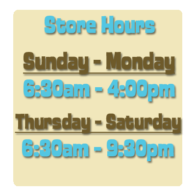 Store Hours Box 2
